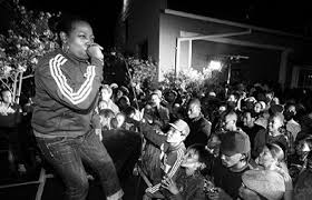 Bahamadia rocking the crowd